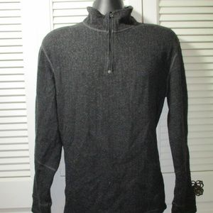 prAna Gray Wool Blend Ribbed 1/2 Sweater XL